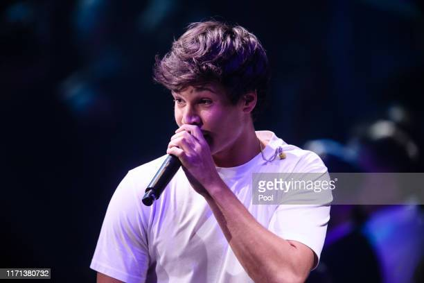 German singer Wincent Weiss performs during the YouTube Goldene Kamera Digital Awards at Kraftwerk on September 26 2019 in Berlin Germany