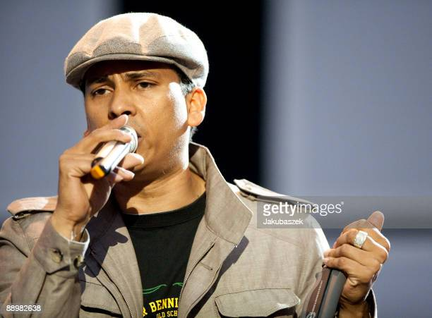 German singer Xavier Naidoo performs live during a concert at the Waldbuehne on July 11 2009 in Berlin Germany The concert is part of the 'Live im...