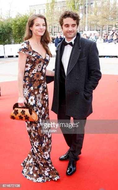German singer Yvonne Caterfeld and german actor Oliver Wnuk during the Lola - German Film Award red carpet arrivals at Messe Berlin on April 28, 2017...