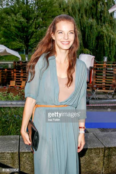 German singer Yvonne Catterfeld attends the summer party 2017 of the German Producers Alliance on July 12 2017 in Berlin Germany