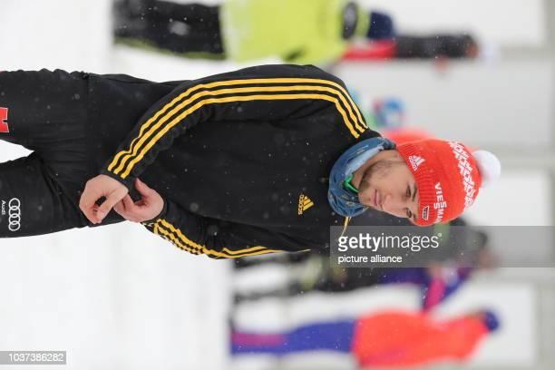 German ski jumper Markus Eisenbichler during the qualification from the Paul Ausserleitner ski jump at the Four Hills Tournament in Nordic skiing/ski...