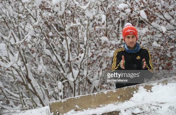 German ski jumper Markus Eisenbichler during the qualification from the Paul Ausserleitner ski jump at the Four Hills Tournament in Nordic skiing/ski...