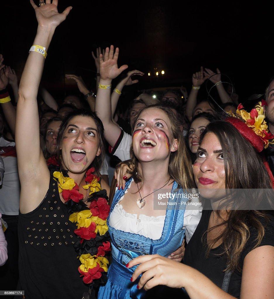 German Soccer Fans Celebrate In The Central London Pub Zeitgeist
