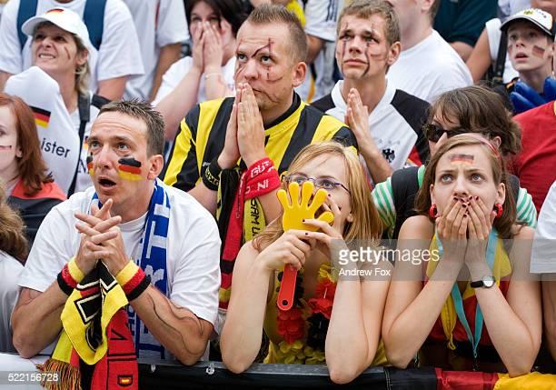 German Soccer Fans Waiting in Suspense