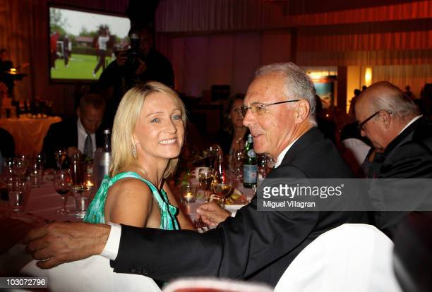 German soccer legend Franz Beckenbauer and his wife Heidi attend the gala dinner of the Kaisercup Golf tournament on July 24 2010 in Bad Griesbach...
