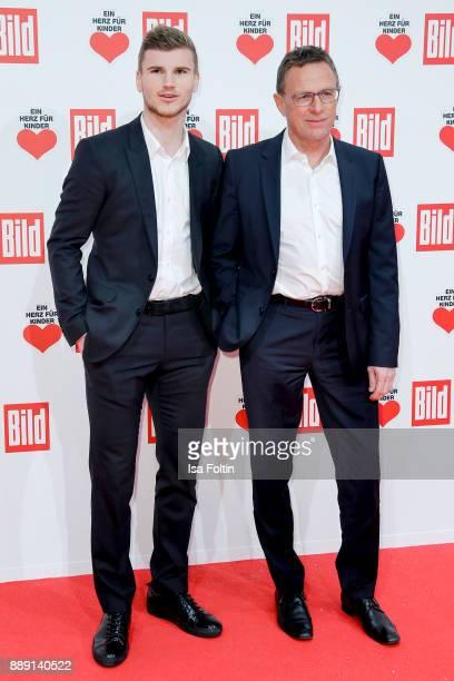 German Soccer Player Timo Werner and Ralf Rangnick attend the 'Ein Herz fuer Kinder Gala' at Studio Berlin Adlershof on December 9 2017 in Berlin...