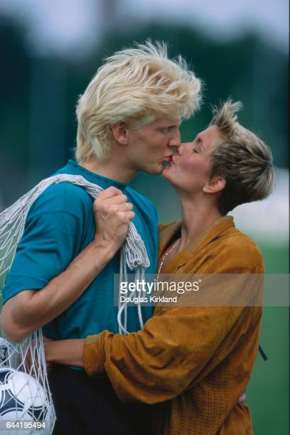 German Soccer Star Stephan Effenberg Kissing Girlfriend