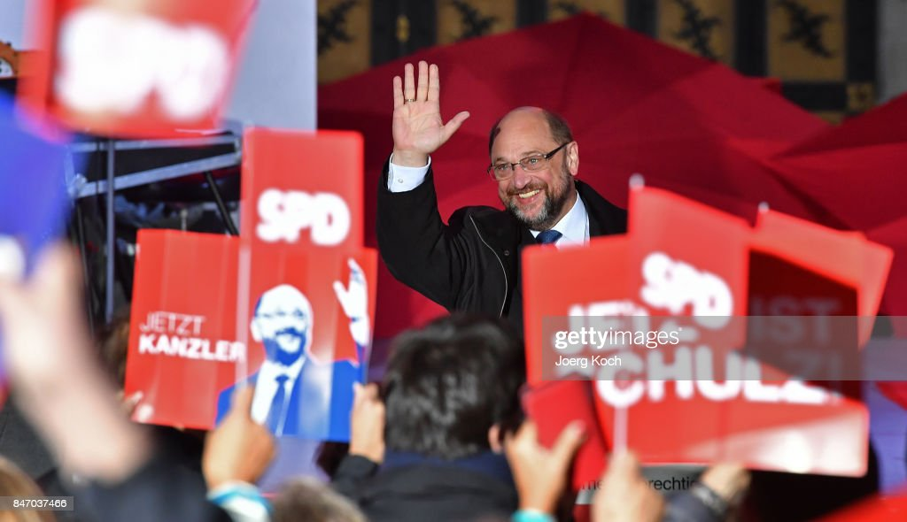 Martin Schulz Campaigns In Munich