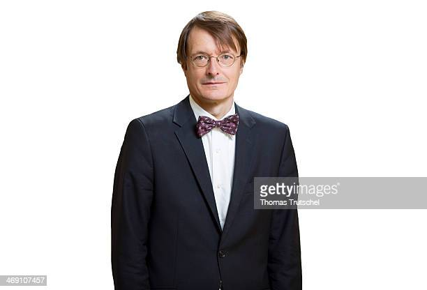 German Social Democratic Party MP Karl Lauterbach poses during a Portrait Session on July 08 in Berlin Germany