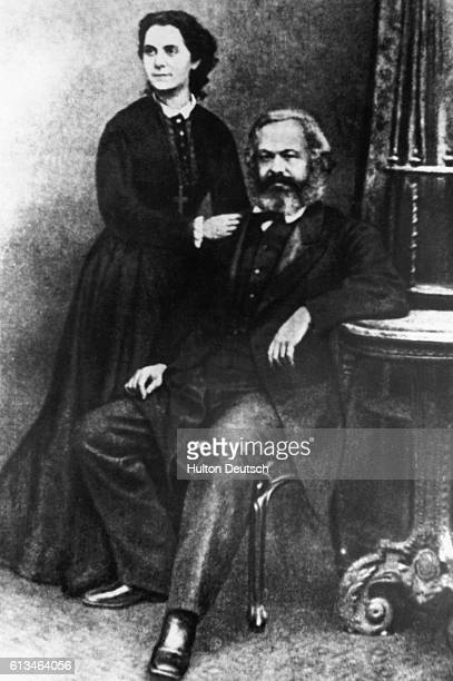 German socialist and philosopher Karl Marx with his eldest daughter Jenny Marx Longuet