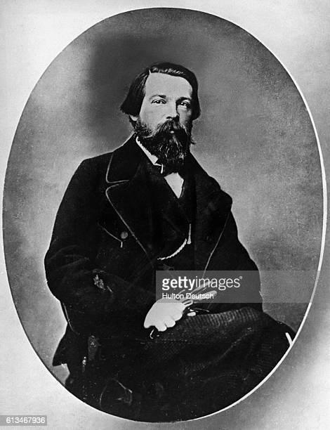 German socialist theorist Friedrich Engels who collaborated with Karl Marx on the Communist Manifesto