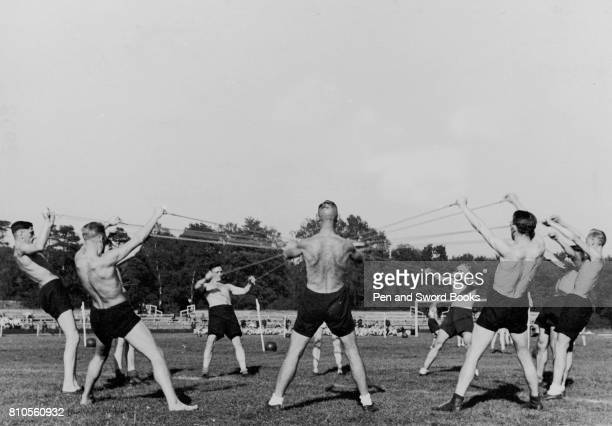 German Soldiers in Fitness Training