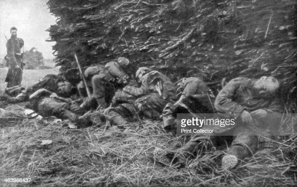 German soldiers killed by artillery fire 1st Battle of the Marne France 512 September 1914 The Battle of the Marne saw the French halt the German...