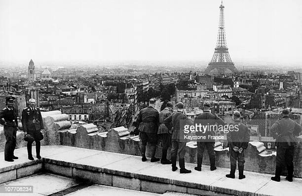 German Soldiers On The Roof Of The Arc De Trimphe During The Occupation Of Paris In 1942