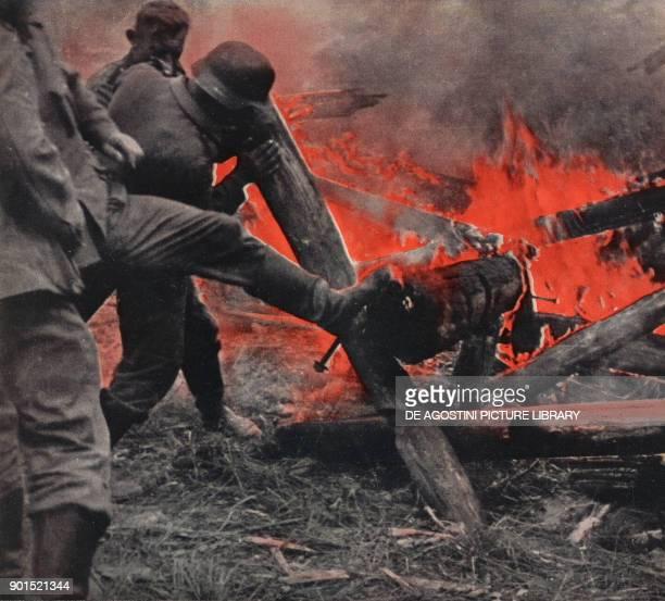 German soldiers on the Ukrainian front Ukraine World War II from L'Illustrazione Italiana Year LXVIII No 35 August 31 1941