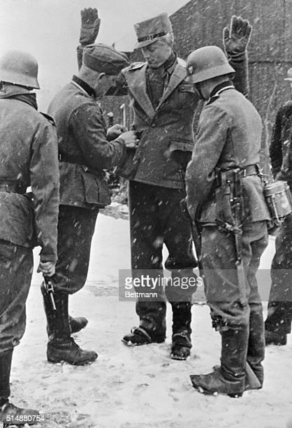 German soldiers searching Norwegians