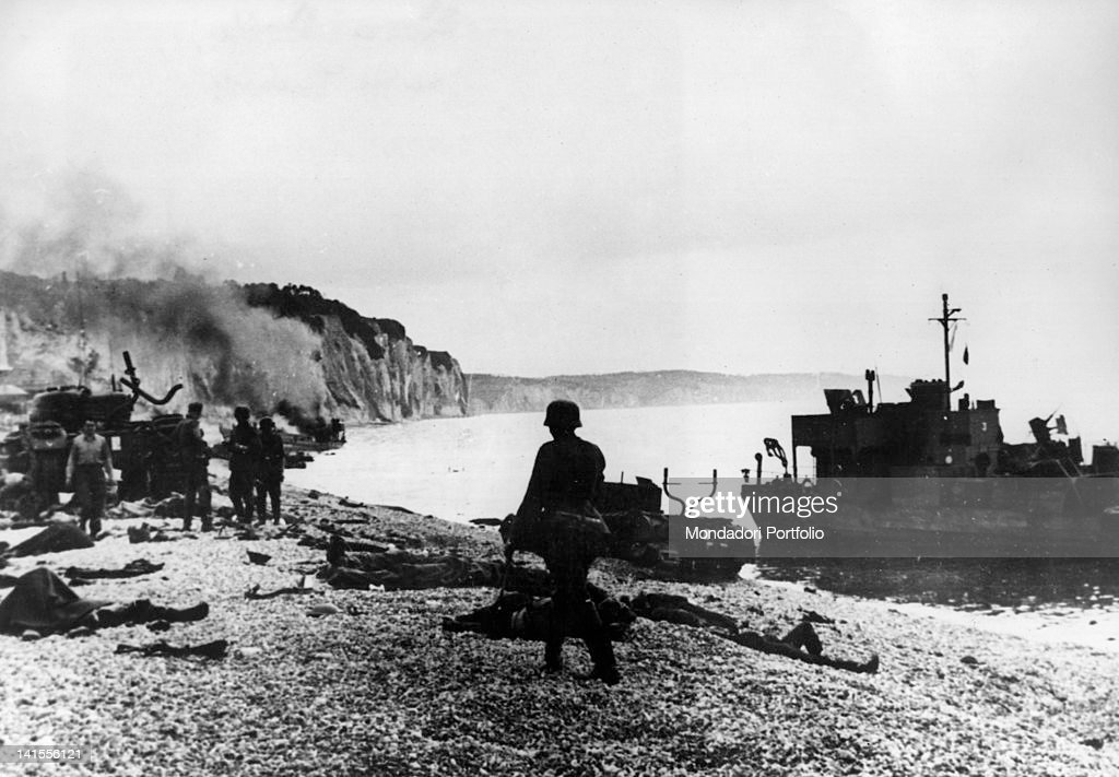 On The Dieppe Shore After The Battle : News Photo