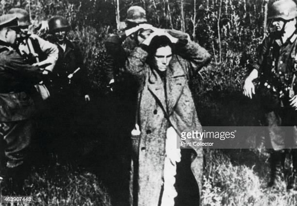 German soldiers with Russian prisoners Russia 1941 Operation Barbarossa the German invasion of the Soviet Union was launched on 22 June 1941 As the...