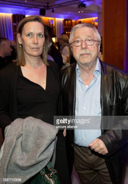 German songwriter Wolf Biermann and his wife Pamela Ruesche arrive to the celebration for the 68th Israeli Independence Day in Hotel InterContinental...