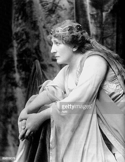German soprano opera singer Johanna Gadski in the part of Iseult at the Metropolitan Opera in 1903