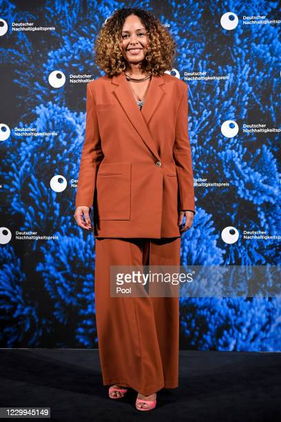 German Soul and R&B singer Joy Denalane poses prior to the 13th GermanSustainability Award at Maritim Hotel on December 4, 2020 in Duesseldorf,...