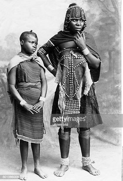 German SouthWest Africa Xhosa people Woman wearing a traditional clothes She will be wearing them until she has her first child probably in the 1910s