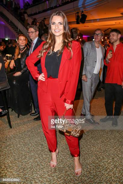 German sports presenter Laura Wontorra during the Echo Award after show party at Palais am Funkturm on April 12 2018 in Berlin Germany