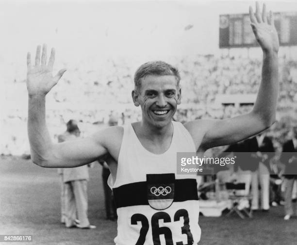 German sprinter Armin Hary after winning the 100 Metre final at the Olympics in Rome Italy in 102 seconds 31st August 1960