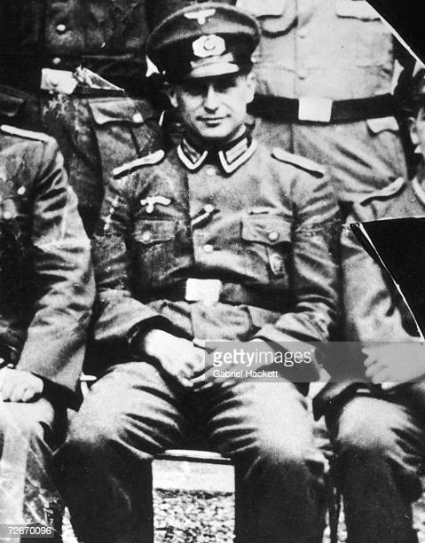 German SS officer and Nazi war criminal Klaus Barbie in army NCO uniform 1944 After the war Barbie worked for British and American intelligence...