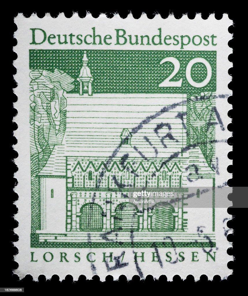 German Stamp Of Lorsch Hessen Stock Photo