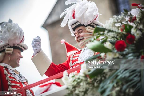 German State Minister of Internal Affairs Herbert Reul takes part in the annual Rose Monday Carnival parade on March 4 2019 in Cologne Germany Cities...