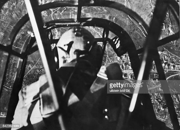 SPAIN LUFTWAFFE 1938 / A German Stuka divebomber of Condor Legion at the moment of attack upon a Spanish city during the Spanish Civil War...