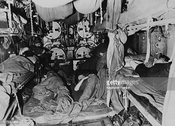 German Submariners Sleeping In The Torpedoes Room On March 15Th 1944