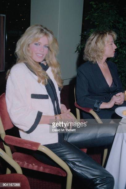 German supermodel Claudia Schiffer at The Rhythm of Life Fashion Ball in aid of the Rainforest Foundation at the Grosvenor House Hotel on May 31,...
