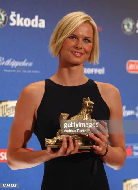 German swim star Britta Steffen receives the Goldene Henne Award 2008 in the category Olympic at Friedrichstadtpalast on September 17 2008 in Berlin...