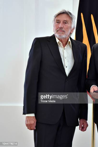 German synchronously speaker and actor Christian Brueckner during the awarding with the Order of Merit of the Federal Republic of Germany on the...
