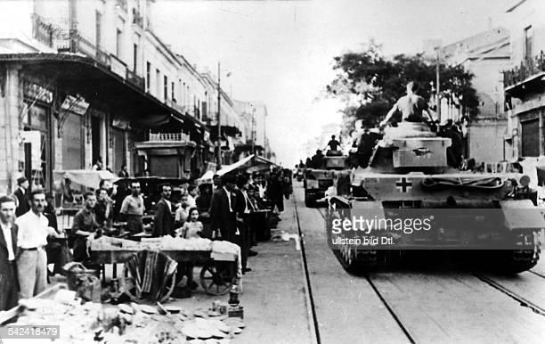 German tanks in Athens