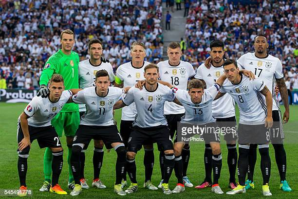German Team during the UEFA EURO semi final match between Germany and France at Stade Velodrome on July 7 2016 in Marseille France