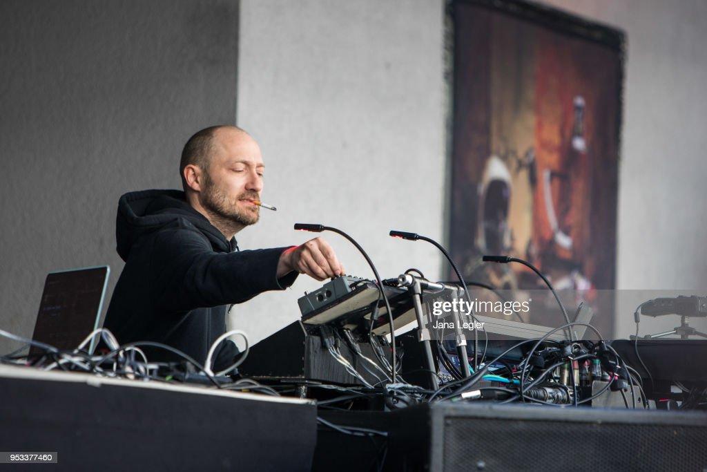 German Techno musician Paul Kalkbrenner performs live on