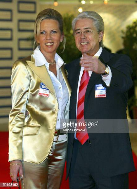 German television host Frank Elsner accompanied by Britta Gessler arrive at the German Media Awards at Congress Hall on February 13 2005 in...