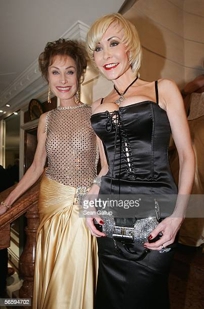 German television hostess Antje Kuehnemann and porn queen Dolly Buster attend the 33rd annual German Film Ball at the Bayerische Hof Hotel on January...