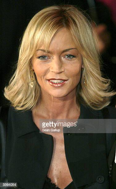 German television hostess Christiane Gerboth attends the Goldene Kamera Film Awards at February 4 2004 in Berlin Germany