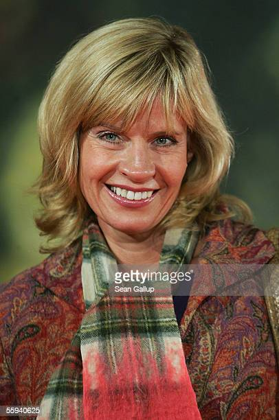 German television hostess Milena Preradovic arrives at the German premiere of Elizabethtown October 17 2005 in Berlin Germany