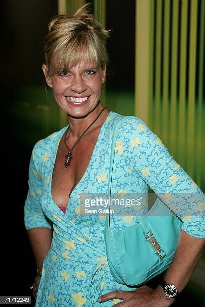 German television hostess Milena Preradovic attends the presentation of the new Volkswagen IROC car study at a promotional event August 24 2006 in...