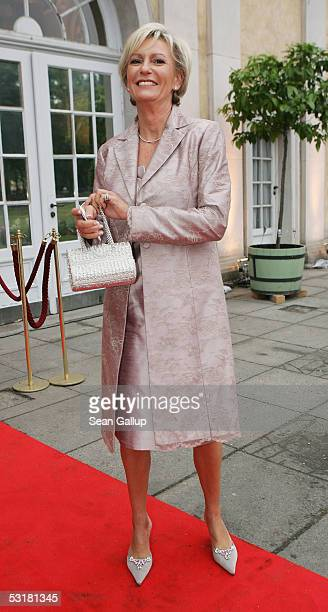 German television hostess Sabine Christiansen arrives at the Innocence in Danger Charity Gala July 1 2005 at Charlottenburg Palace in Berlin Germany