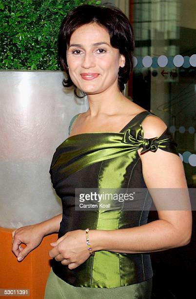 German television hostess Sandra Maischberger attends the Benefit Gala for Chaim Sheba Medical Center in the Jewish Mueseum on June 2 2005 in Berlin...