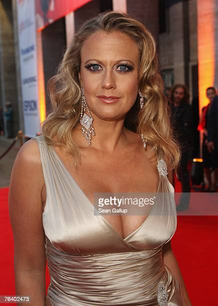 German television presenter Barbara Schoeneberger attends the opening gala evening of the IFA consumer electronics fair August 30 2007 in Berlin...