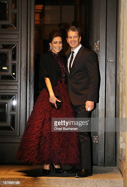 German television program host Markus Lanz and wife Angela Gessmann sighting at the Hotel de Rome on November 14 2013 in Berlin Germany