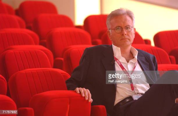 German television talk host Harald Schmidt is seen during the TELE fair on July 29 2003 in Cologne Germany