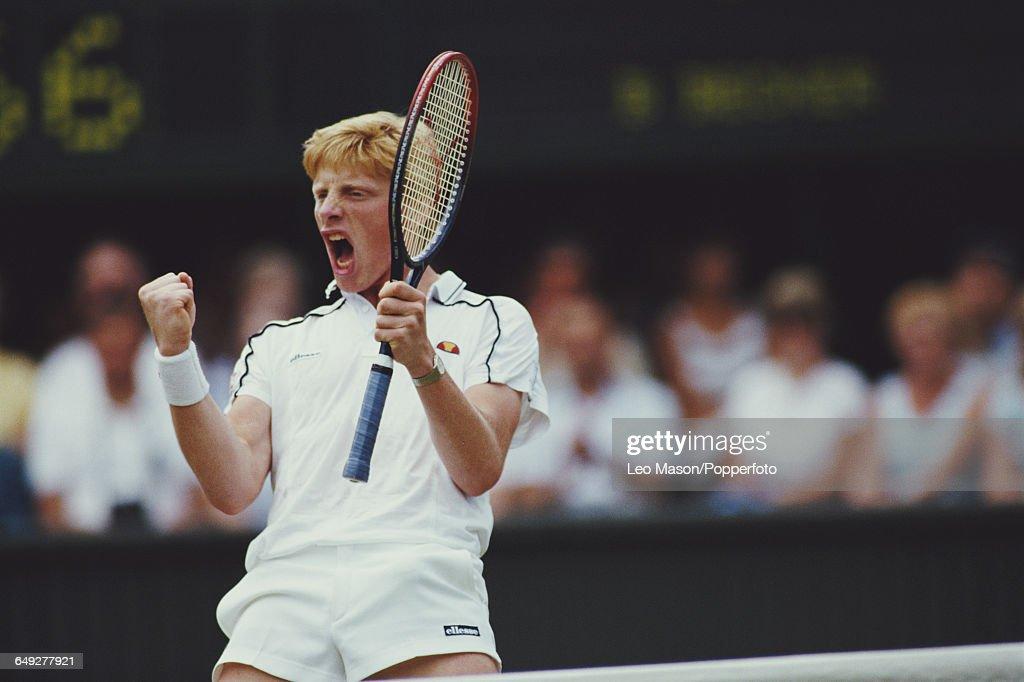 Boris Becker At 1986 Wimbledon Championships : News Photo